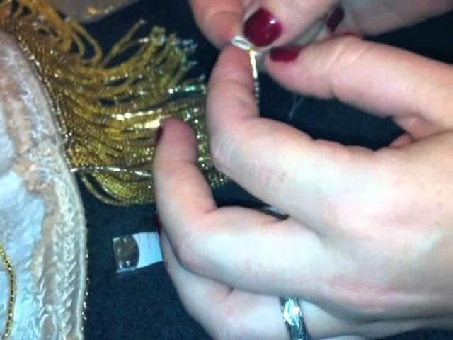 How to make beaded fringe for bellydance costumes