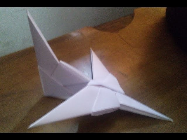 How to make origami jetfighter airplane very easy