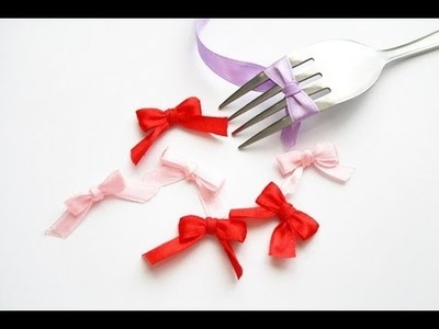 How to make ribbons with a fork
