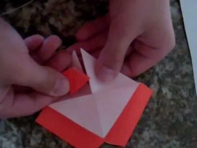 How to make the origami volcano (square base)