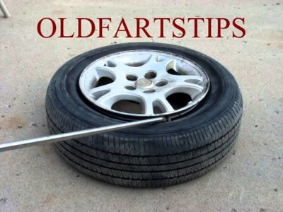 How To Re Seat or Restore Tire Bead - Mount a Tire on a Rim - Do It Yourself! Save $ OldFartsTips