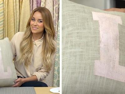 Lauren Conrad: Stenciled Accent Pillows