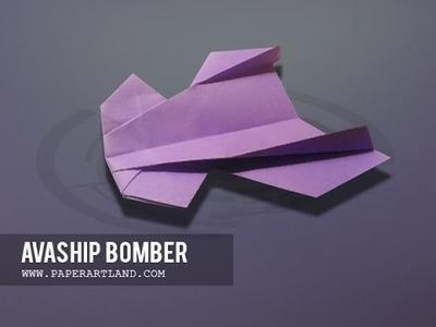 Let's make a Unique paper airplane that flies far | Avaship Bomber ( Original )