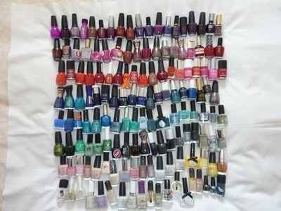 My Collection Of Nail Polishes June 2010. Also Showing My New Nail Art Design Of Zig-Zags!