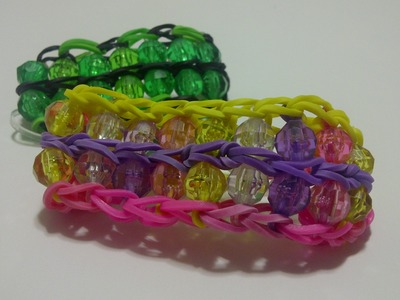 *New* Video ~39~ Rainbow Loom Beaded Ladder Bracelet design