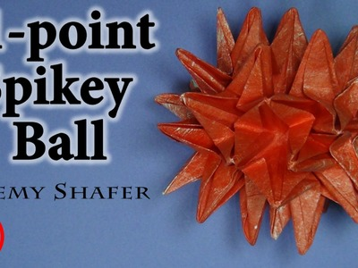 Origami 41-Point Spikey Ball Tutorial (no music)