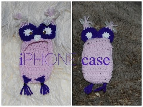 OWL iPHONE Crochet Case How to, easy DIY, free iPhone case give away