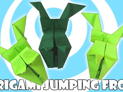 Paper Origami Jumping Frog Tutorial (Origamite)
