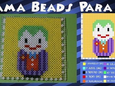 Pared.Posavasos del Joker - Tutorial Hama Beads