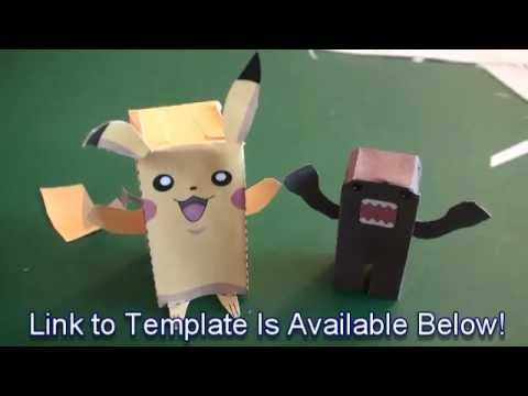 Popular Craft Projects 007 Paper Pikachu Box Figure Finger