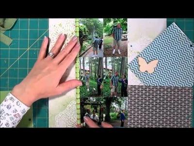 Scrapbooking Process - 6 Photos, Enhancing Wood Veneer and a Sketch
