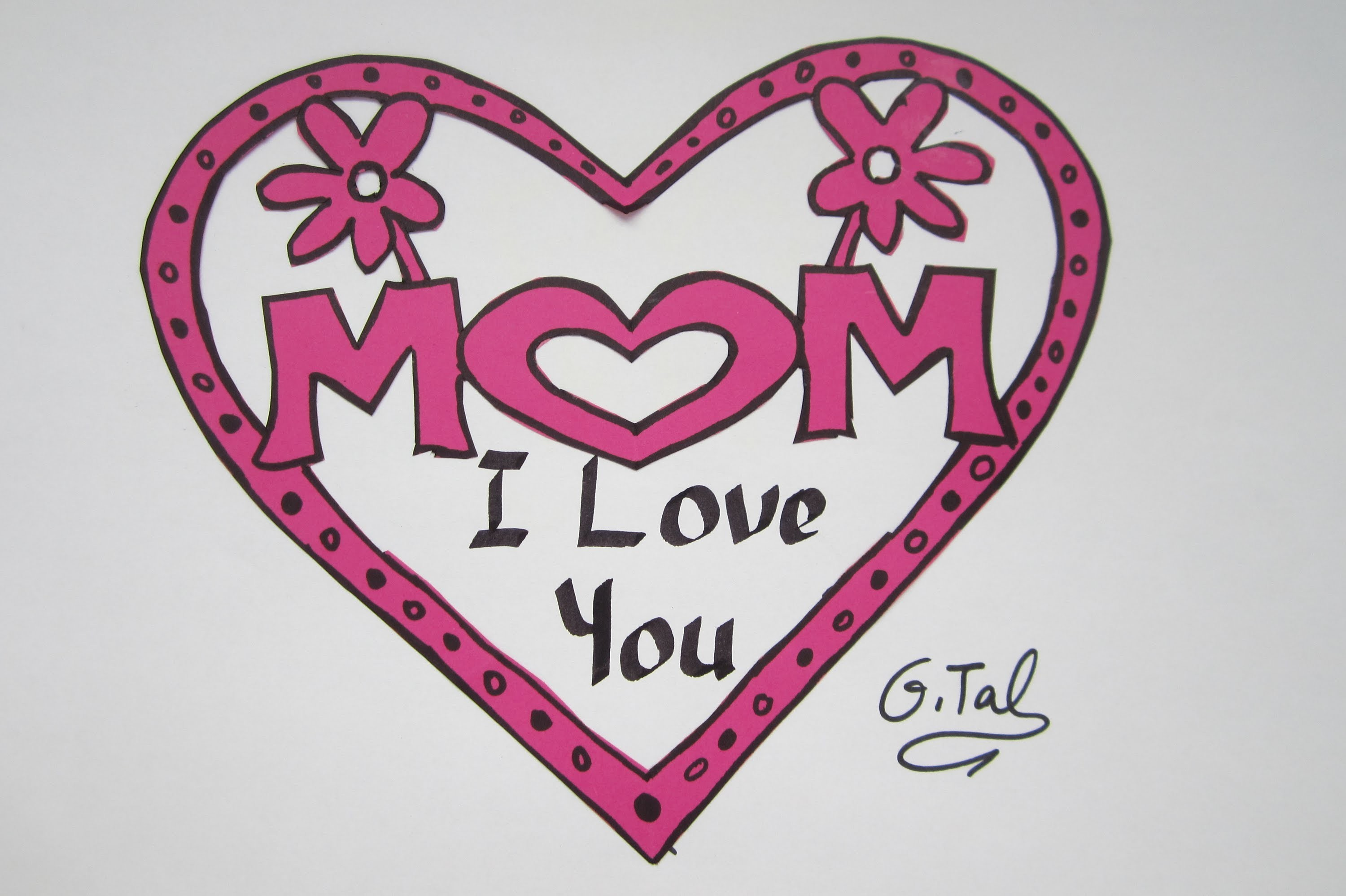 Top Handmade Mothers Day  Card - easy & cheap !!!