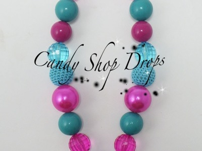 Tutortial:How to make a Chunky Acrylic Necklace with wire by CandyshopbeadsUS