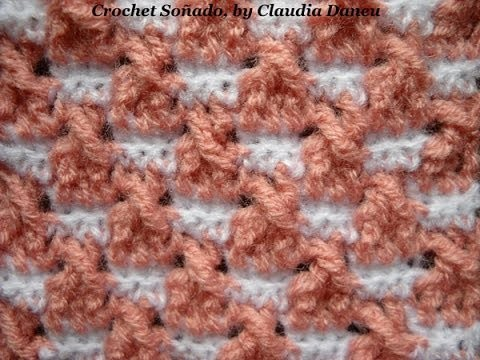 """TWIST"" DOUBLE SEED STITCH CROCHET JACQUARD. ARROZ DOBLE CROCHET ""CON TORZADA"" JACQUARD"