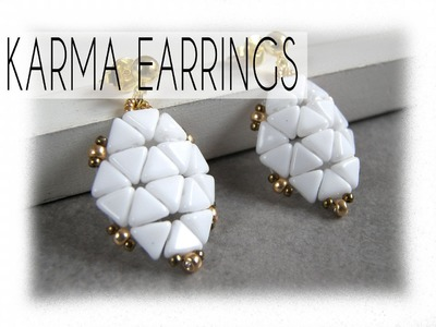 Beading Ideas - Karma earring with kheops beads