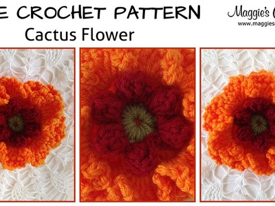 Cactus Flower Free Crochet Pattern - Right Handed