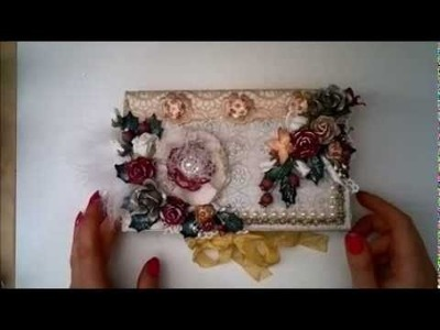 Christmas chocolate box card - DT project Wild Orchid Crafts