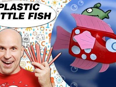 Crafts Ideas for Kids - Plastic Bottle Fish   DIY on BoxYourSelf