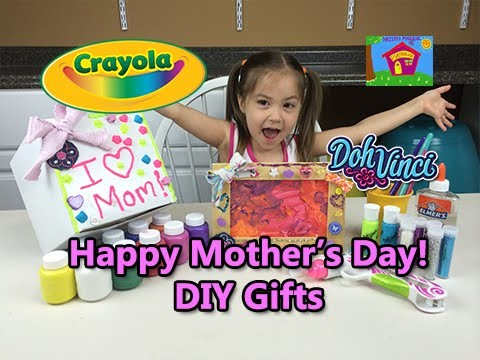 CRAYOLA DIY GIFTS Kids Can Make for Mother's Day Birthdays & More Surprises - PlayDoh DohVinci