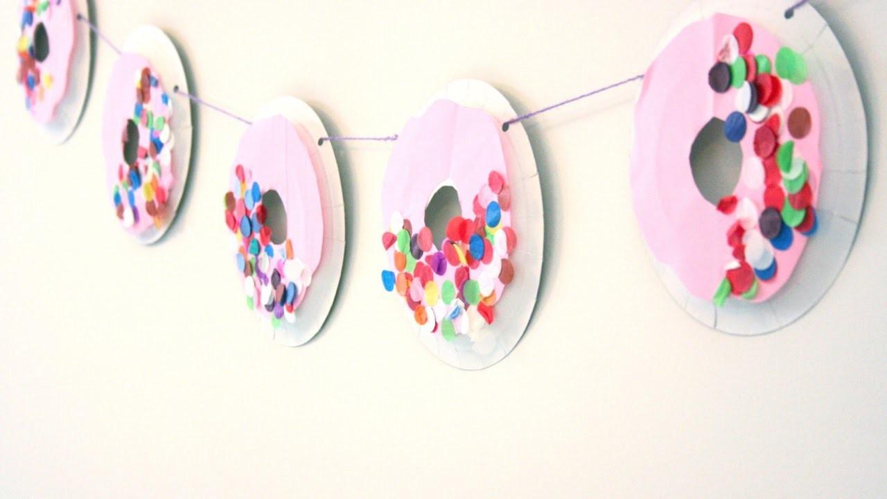 Create a Fun Paper Plate Doughnut Garland - DIY Crafts - Guidecentral