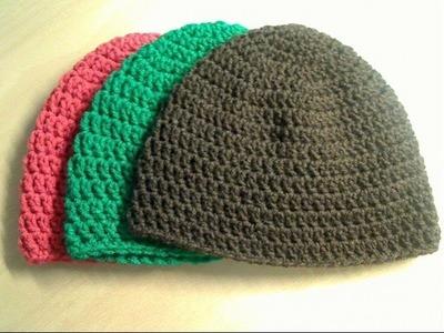 Crochet Beanie Tutorial (Adult Size)