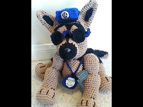 Crochet German Shepherd Dog DIY Tutorial Part 2 of 2