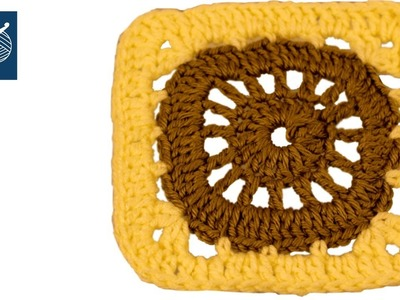 Crochet Granny Square How To - Circle to Square LEFT HAND Crochet Geek