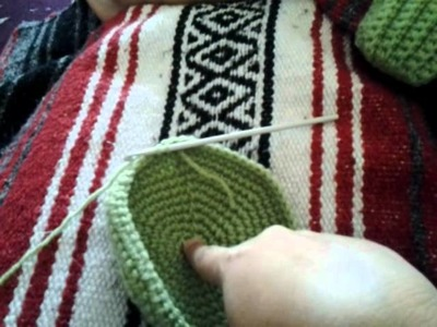 Crochet mittens and begining of a beanie