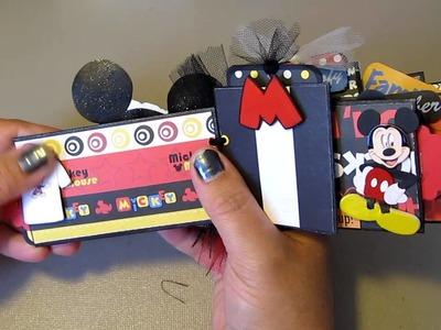 Disney Toilet Paper Roll Mini Scrapbook Album  ~ Mickey