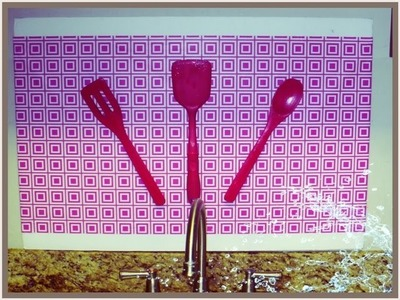 DIY Backsplash & Dollar Tree Kitchen Organization