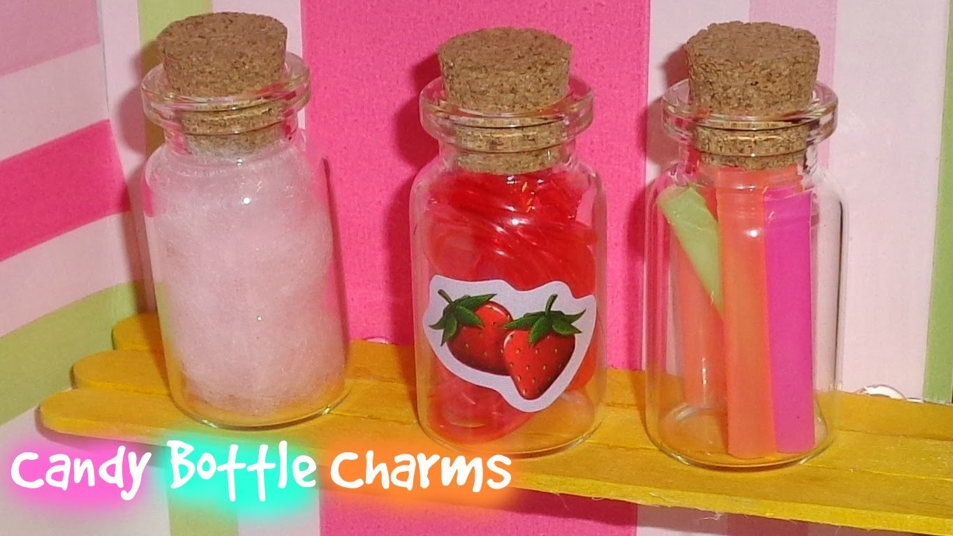 DIY Bottle Charms - How to Make Candy Bottle Charms