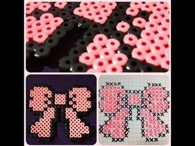 DIY: Bow (Melting Bead Pattern) ♡ Theeasydiy #Crafty