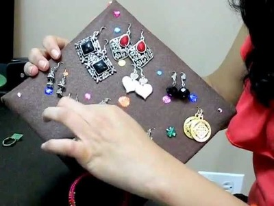 DIY: Make your own Earring Organizer from waste