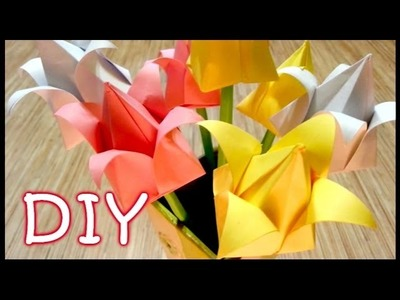 DIY Paper Tulips - How to Make an Origami Tulip