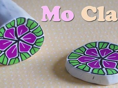 DIY Polymer Clay flower cane - kaleidoscope technique