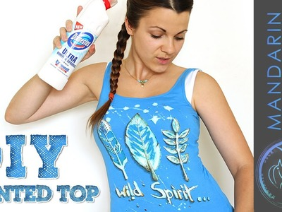 DIY PRINTED TOP USING BLEACH AND MARKERS by Mymandarinducky