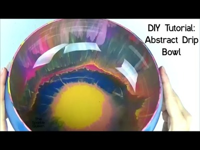 DIY Tutorial: Abstract Modern Drip Bowl
