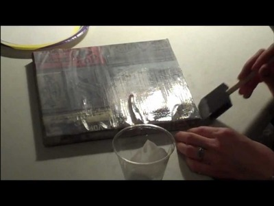 DIY Wall art using Tim Holtz cardstock and canvas