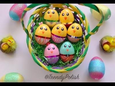DIY Water Marble Chick Easter Eggs (Using Nail Polish!)