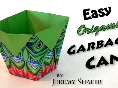 Easy Origami Garbage Can