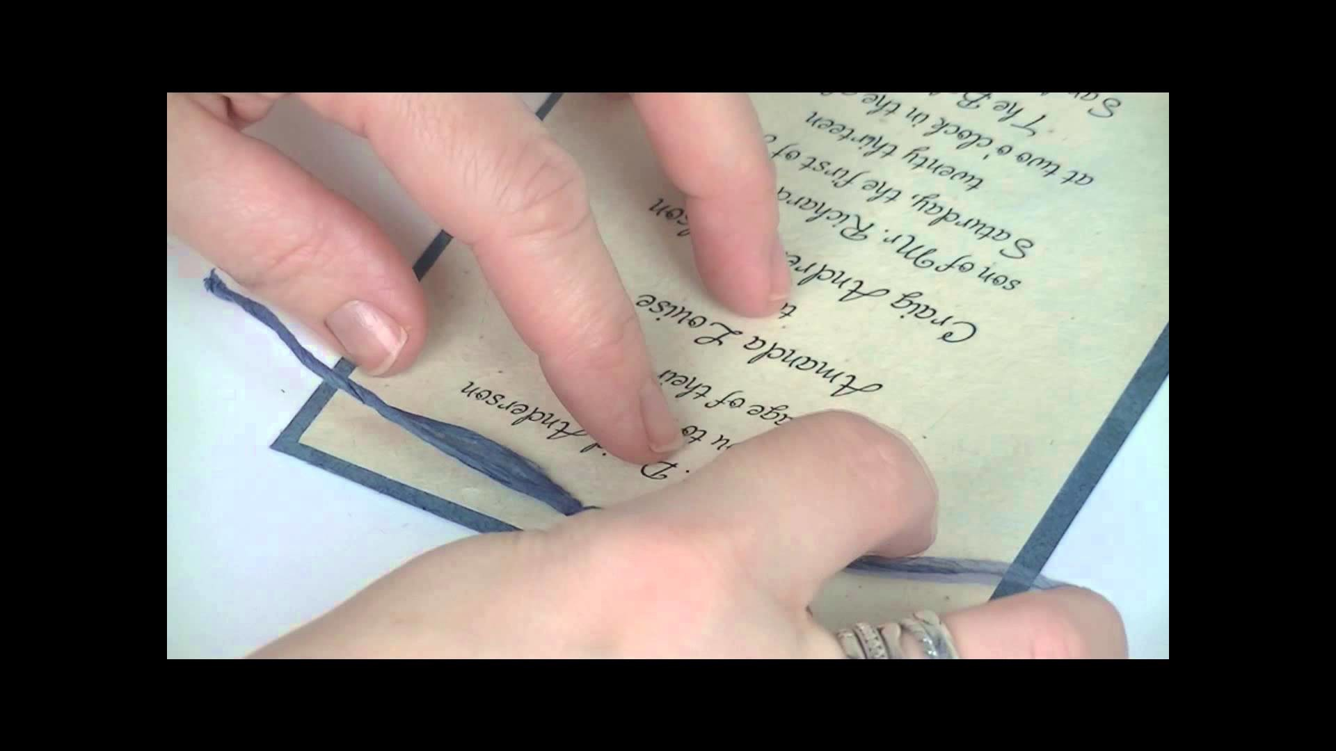 Eco-Twist DIY invitation punch and paper ribbon assemble tutorial