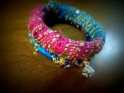 Fabric Wrapped Bangle Bracelet Tutorial. DIY Fabric Bangles