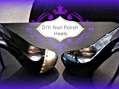 FASHION DIY: Shoe Painting Using Nail Polish! High Heels.