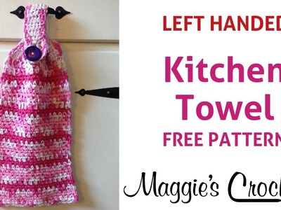 Home Cotton Kitchen Towel Free Crochet Pattern - Left Handed