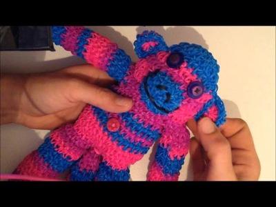 How I made my Spunky the Loom Band Sock Monkey, kinda not a tutorial