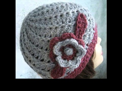 How to crochet beret slouchy beanie