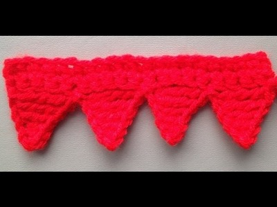 How to Crochet the Edge.Border Stitch Pattern #3 by ThePatterfamily