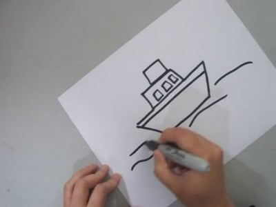 How to draw a tug boat - EP