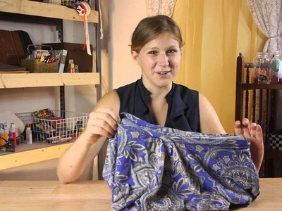 How to Easily Make a Skirt Without Sewing : Crafting Projects & Cleaning