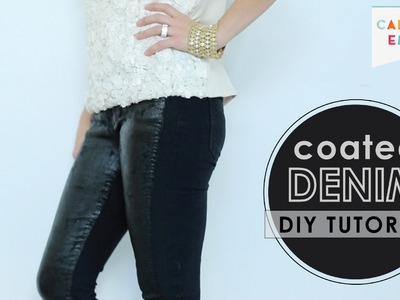 How to Faux Wax Denim - DIY Coated Jeans Tutorial